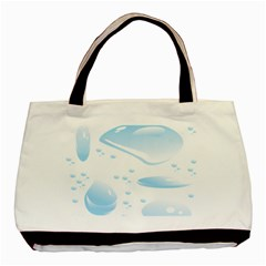 Water Drops Bubbel Rain Blue Circle Basic Tote Bag by Mariart