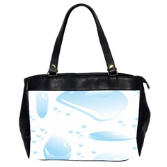 Water Drops Bubbel Rain Blue Circle Office Handbags (2 Sides)  by Mariart