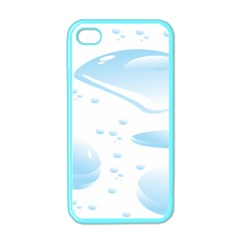 Water Drops Bubbel Rain Blue Circle Apple Iphone 4 Case (color) by Mariart