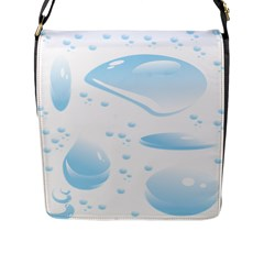 Water Drops Bubbel Rain Blue Circle Flap Messenger Bag (l)  by Mariart