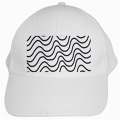 Wave Waves Chefron Line Grey White White Cap by Mariart