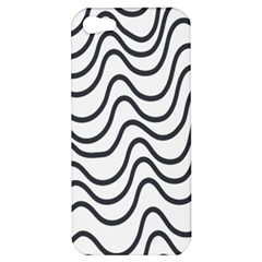 Wave Waves Chefron Line Grey White Apple Iphone 5 Hardshell Case by Mariart
