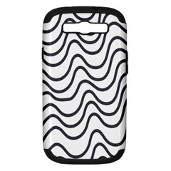 Wave Waves Chefron Line Grey White Samsung Galaxy S Iii Hardshell Case (pc+silicone) by Mariart