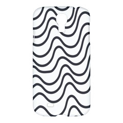Wave Waves Chefron Line Grey White Samsung Galaxy S4 I9500/i9505 Hardshell Case by Mariart