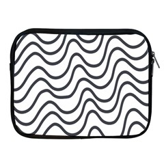 Wave Waves Chefron Line Grey White Apple Ipad 2/3/4 Zipper Cases by Mariart
