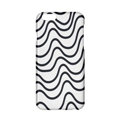 Wave Waves Chefron Line Grey White Apple Iphone 6/6s Hardshell Case by Mariart