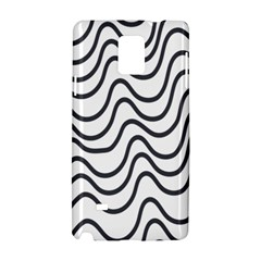 Wave Waves Chefron Line Grey White Samsung Galaxy Note 4 Hardshell Case by Mariart