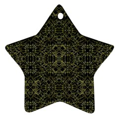 Golden Geo Tribal Pattern Ornament (star) by dflcprints
