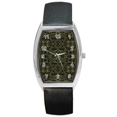 Golden Geo Tribal Pattern Barrel Style Metal Watch by dflcprints