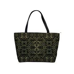 Golden Geo Tribal Pattern Shoulder Handbags by dflcprints