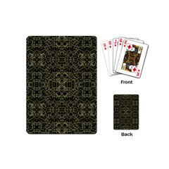 Golden Geo Tribal Pattern Playing Cards (mini)  by dflcprints