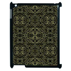 Golden Geo Tribal Pattern Apple Ipad 2 Case (black) by dflcprints
