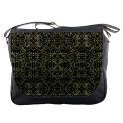 Golden Geo Tribal Pattern Messenger Bags by dflcprints