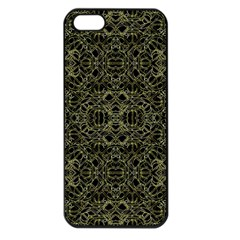 Golden Geo Tribal Pattern Apple Iphone 5 Seamless Case (black) by dflcprints