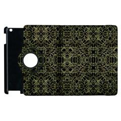Golden Geo Tribal Pattern Apple Ipad 2 Flip 360 Case by dflcprints
