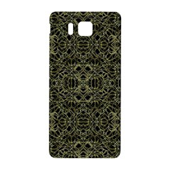 Golden Geo Tribal Pattern Samsung Galaxy Alpha Hardshell Back Case by dflcprints