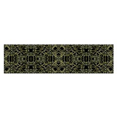 Golden Geo Tribal Pattern Satin Scarf (oblong) by dflcprints