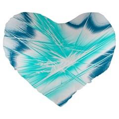 Big Bang Large 19  Premium Flano Heart Shape Cushions by ValentinaDesign