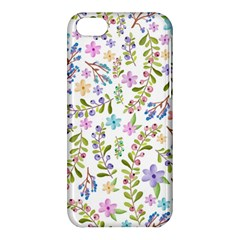 Twigs And Floral Pattern Apple Iphone 5c Hardshell Case by Coelfen