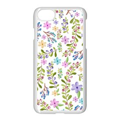 Twigs And Floral Pattern Apple Iphone 7 Seamless Case (white) by Coelfen