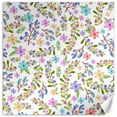 Twigs And Floral Pattern Canvas 16  X 16   by Coelfen