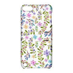 Twigs And Floral Pattern Apple Ipod Touch 5 Hardshell Case With Stand by Coelfen