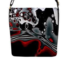 Lights Flap Messenger Bag (l)  by ValentinaDesign