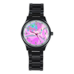 Lights Stainless Steel Round Watch by ValentinaDesign
