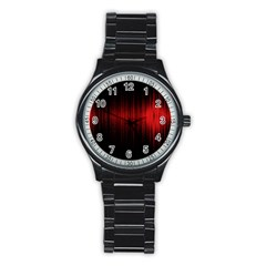 Lights Stainless Steel Round Watch by ValentinaDesign