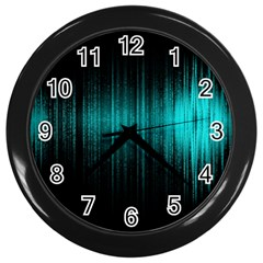 Lights Wall Clocks (black) by ValentinaDesign