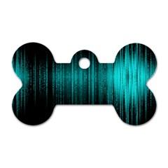 Lights Dog Tag Bone (one Side) by ValentinaDesign
