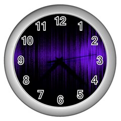 Lights Wall Clocks (silver)  by ValentinaDesign