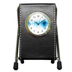 Light Pen Holder Desk Clocks by ValentinaDesign