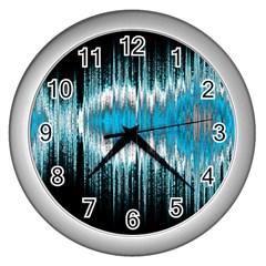 Light Wall Clocks (silver)  by ValentinaDesign