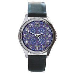 Colorful Ethnic Design Round Metal Watch by dflcprints