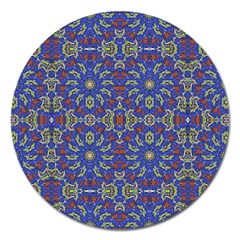 Colorful Ethnic Design Magnet 5  (round) by dflcprints
