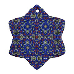 Colorful Ethnic Design Snowflake Ornament (two Sides) by dflcprints