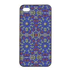 Colorful Ethnic Design Apple Iphone 4/4s Seamless Case (black) by dflcprints