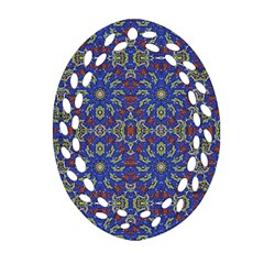 Colorful Ethnic Design Ornament (oval Filigree) by dflcprints