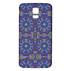 Colorful Ethnic Design Samsung Galaxy S5 Back Case (white) by dflcprints
