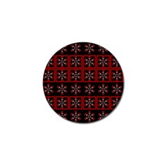 Dark Tiled Pattern Golf Ball Marker by linceazul