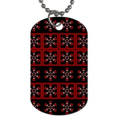 Dark Tiled Pattern Dog Tag (Two Sides) by linceazul