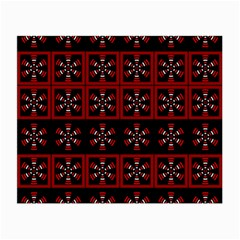 Dark Tiled Pattern Small Glasses Cloth by linceazul