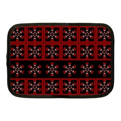 Dark Tiled Pattern Netbook Case (medium)  by linceazul