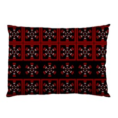 Dark Tiled Pattern Pillow Case by linceazul
