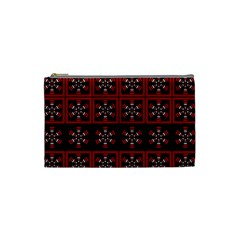 Dark Tiled Pattern Cosmetic Bag (small)  by linceazul