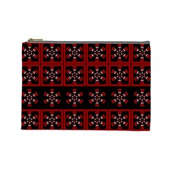 Dark Tiled Pattern Cosmetic Bag (large)  by linceazul
