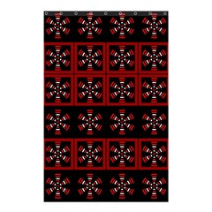 Dark Tiled Pattern Shower Curtain 48  X 72  (small)  by linceazul