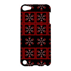 Dark Tiled Pattern Apple Ipod Touch 5 Hardshell Case by linceazul