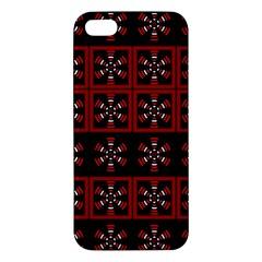 Dark Tiled Pattern Apple iPhone 5 Premium Hardshell Case by linceazul